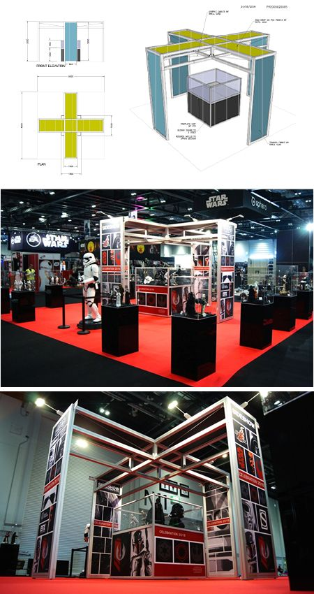 Shell Clad Exhibition Stand : Star wars exhibition stand excel london