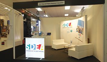 sdea light box counter at Retail Design Expo