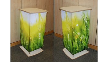 illuminated lecturn light box