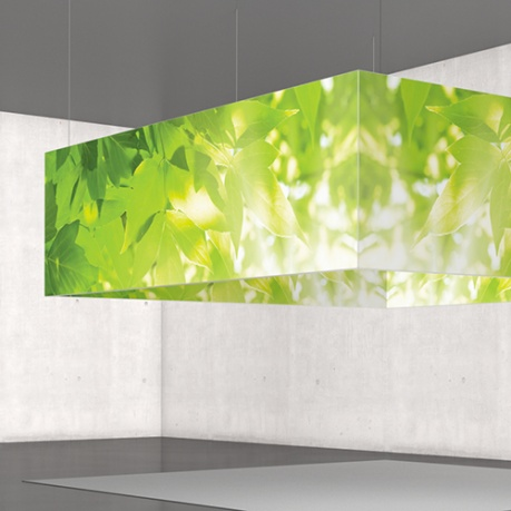 Vertically hung light boxes