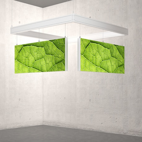 Ceiling hung light boxes