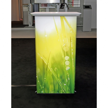 Exhibition light box podium