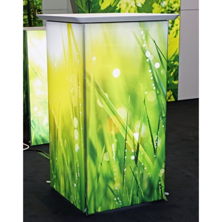 illuminated light box podium counter